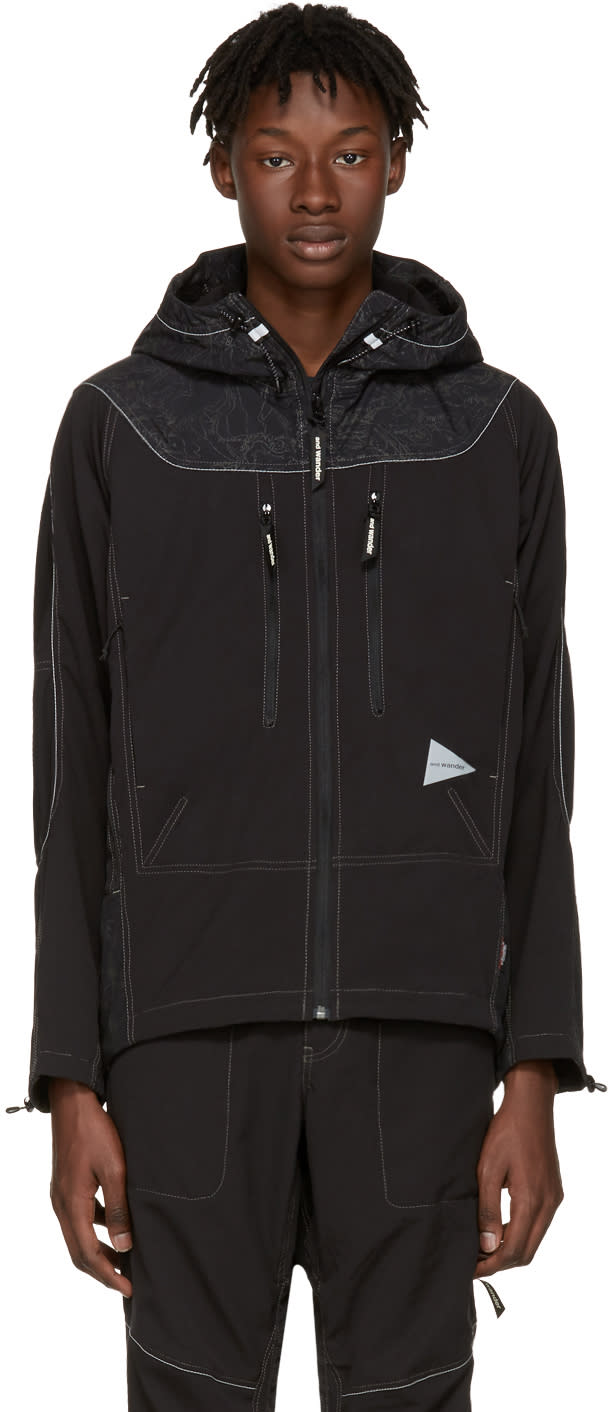 And Wander Black Schoeller Reflect Jacket