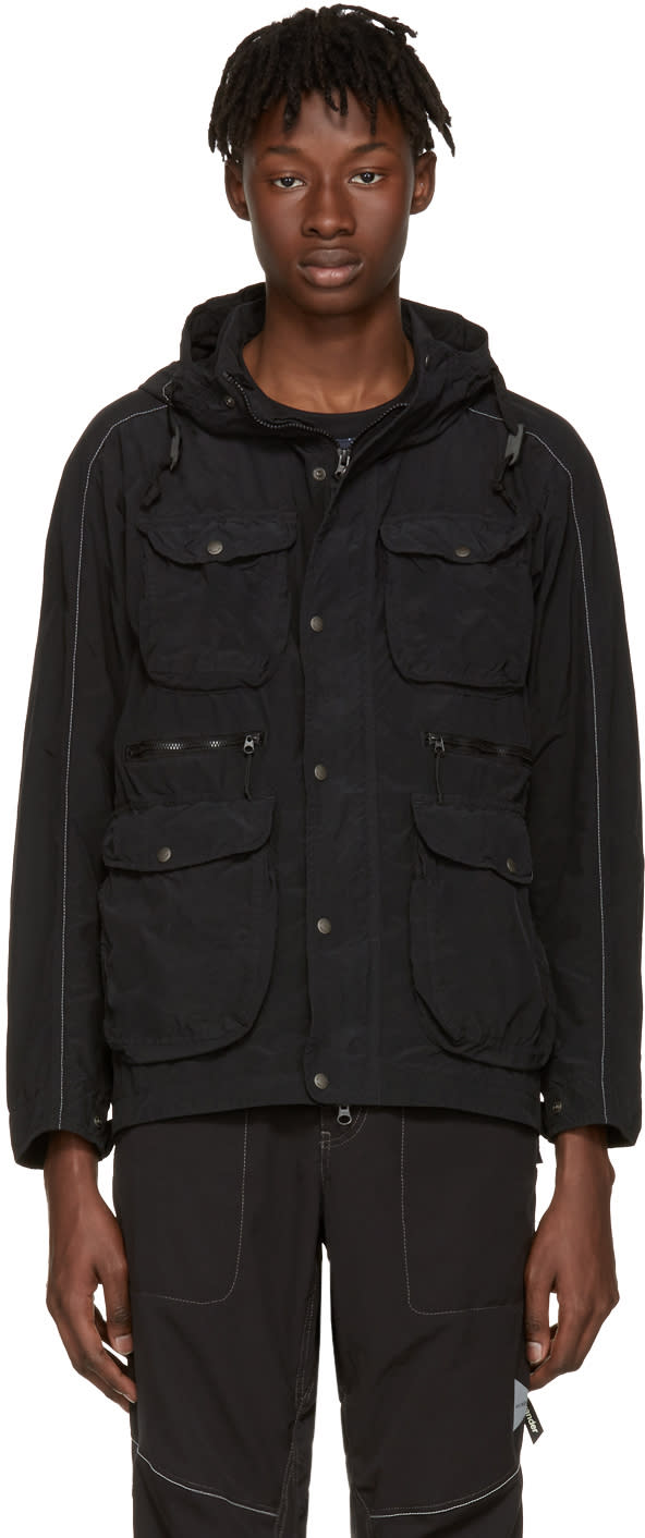And Wander Black Garment-dyed Jacket