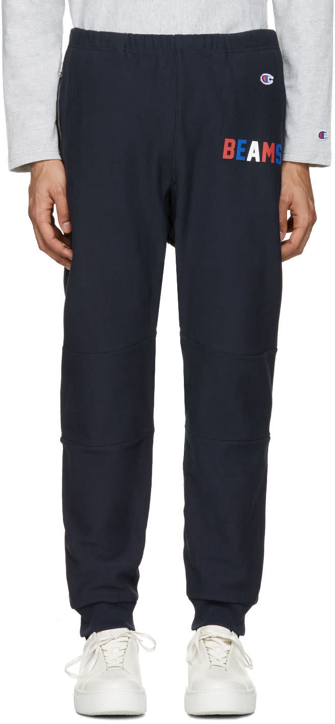 Champion X Beams Navy Logo Lounge Pants