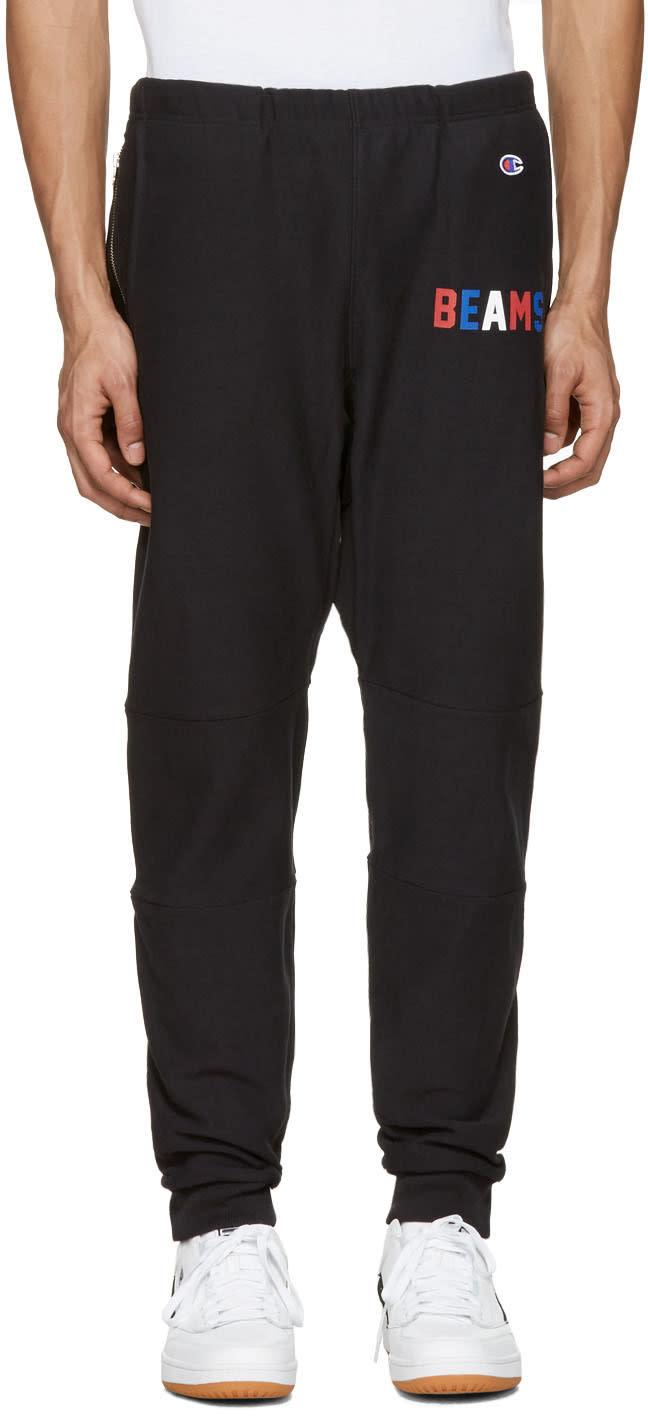 Champion X Beams Black Logo Lounge Pants
