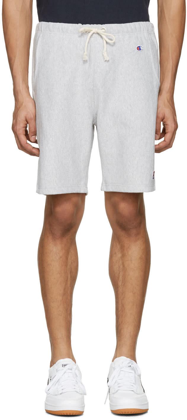 Champion X Beams Grey Logo Shorts
