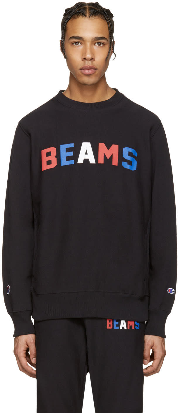 Image of Champion X Beams Black Logo Pullover