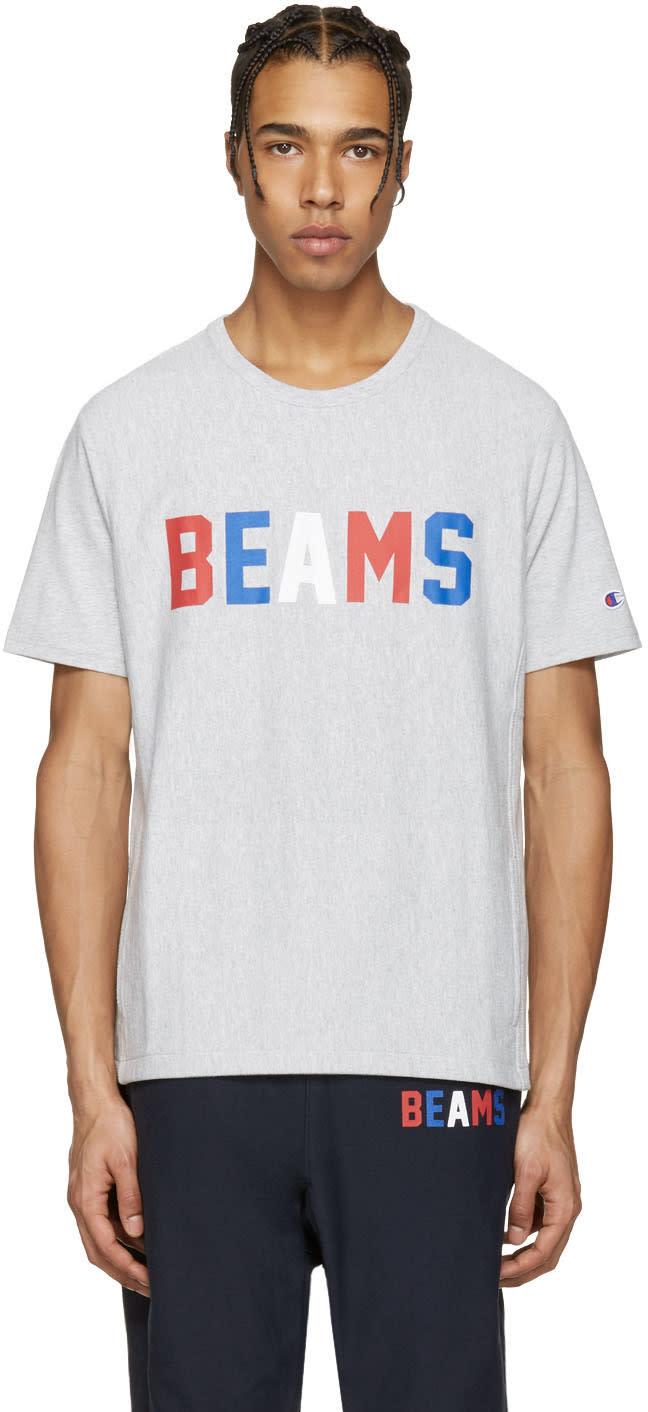 Champion X Beams Grey Logo T-shirt
