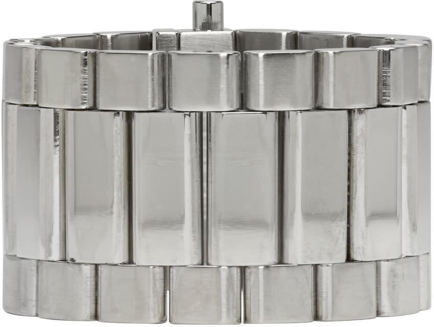 Ambush Silver Classic Chain 5 Bracelet