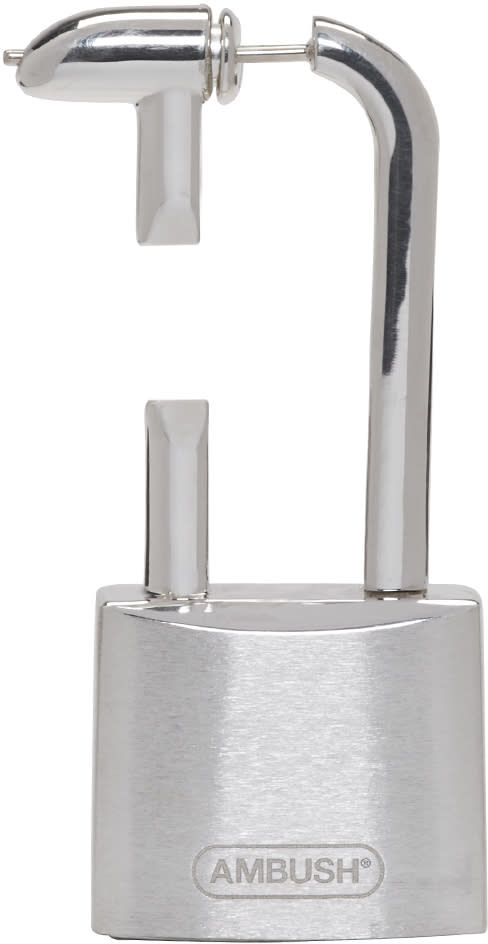 Image of Ambush Silver Sss Single Padlock Earring