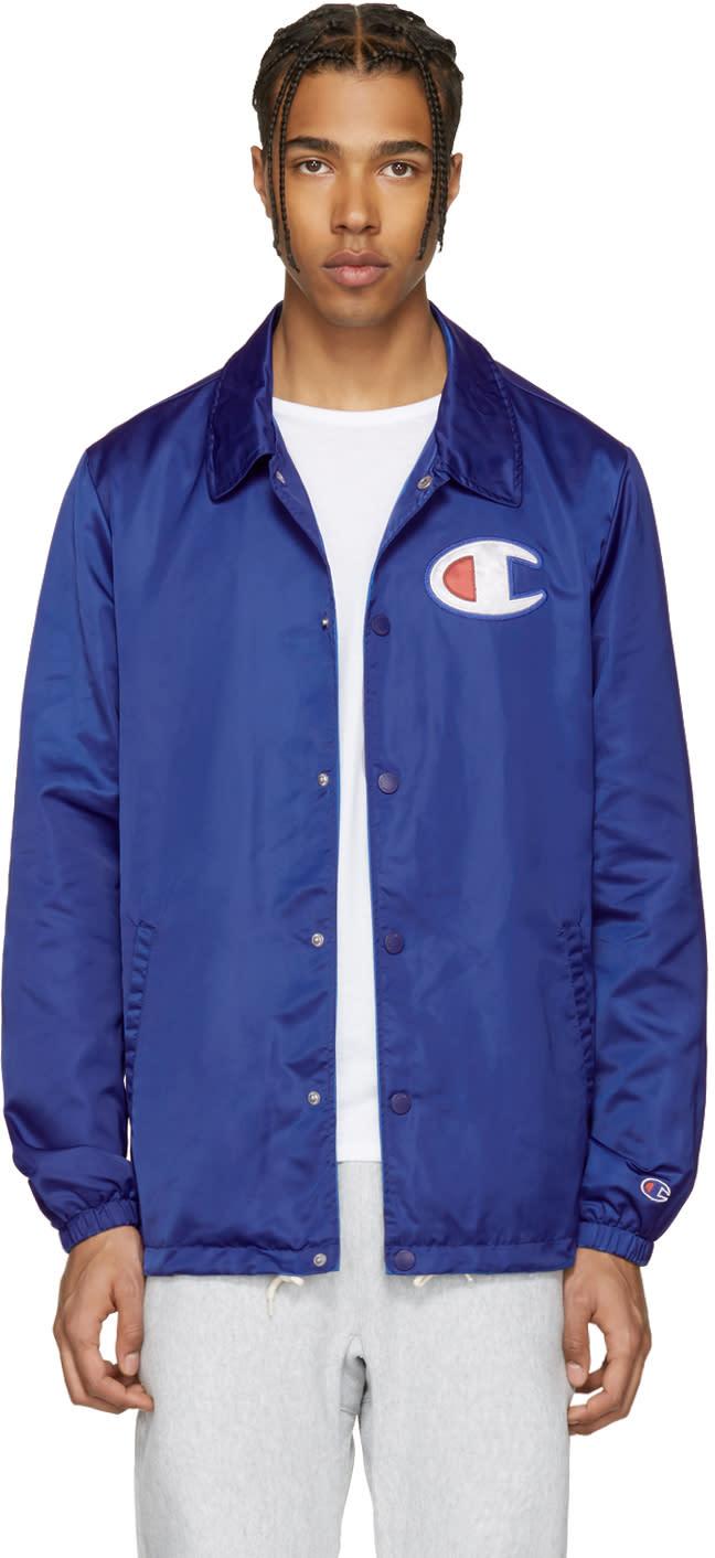 Champion Reverse Weave Blue Coach Track Jacket