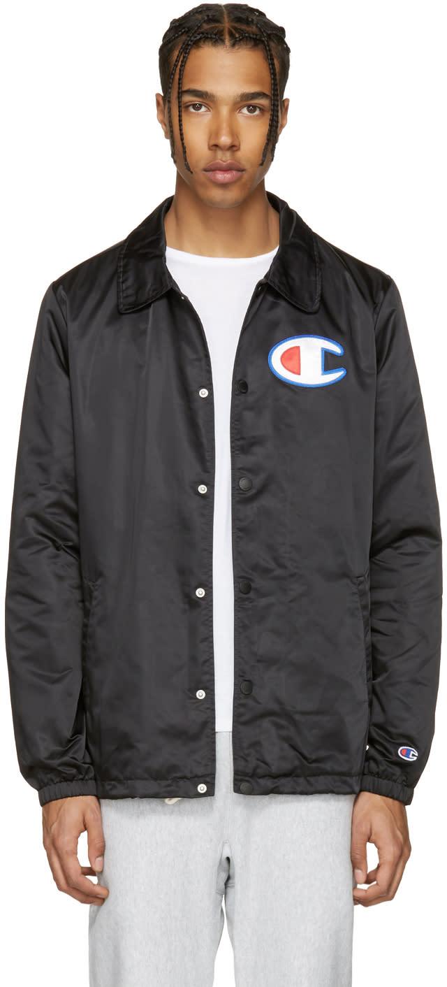 Champion Reverse Weave Black Coach Track Jacket