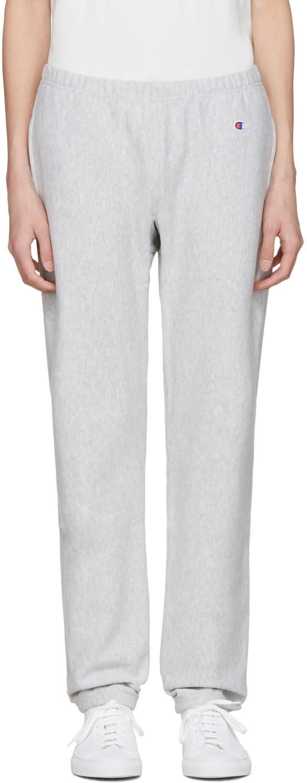 Champion Reverse Weave Grey Warm Up Lounge Pants