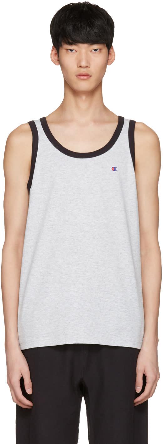 Champion Reverse Weave Grey Logo Tank Top