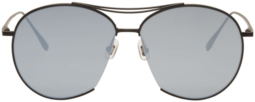Gentle Monster Black Jumping Jack Aviator Sunglasses