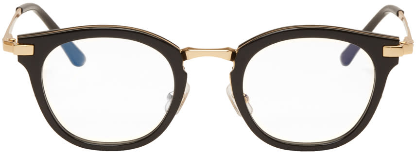 Gentle Monster Black and Gold Rigo Glasses