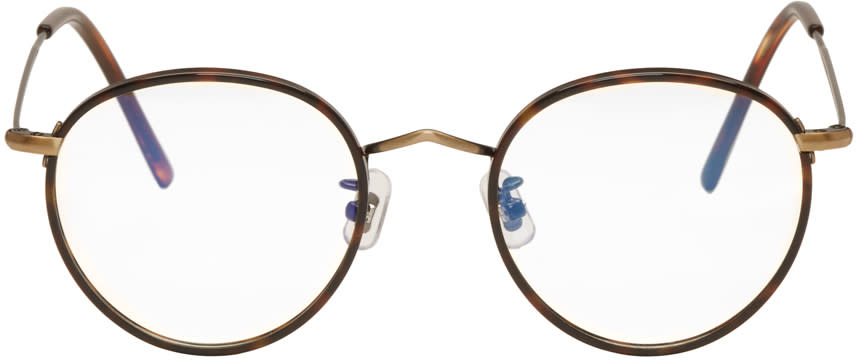 Gentle Monster Tortoiseshell and Black 14 Proud Glasses
