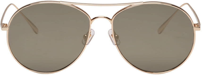Gentle Monster Gold Ranny Ring Sunglasses