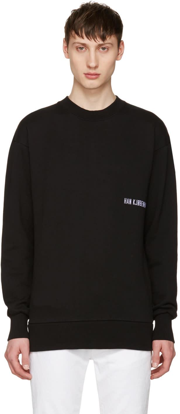 Han Kjobenhavn Black Casual Crew Logo Sweatshirt