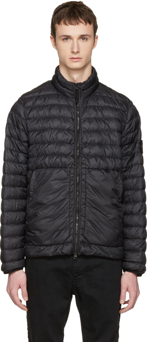 Stone Island Black Down Packable Jacket