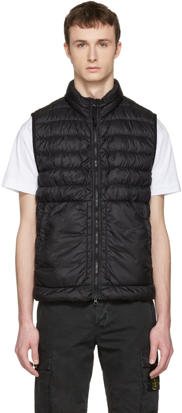 Stone Island Black Down Packable Vest