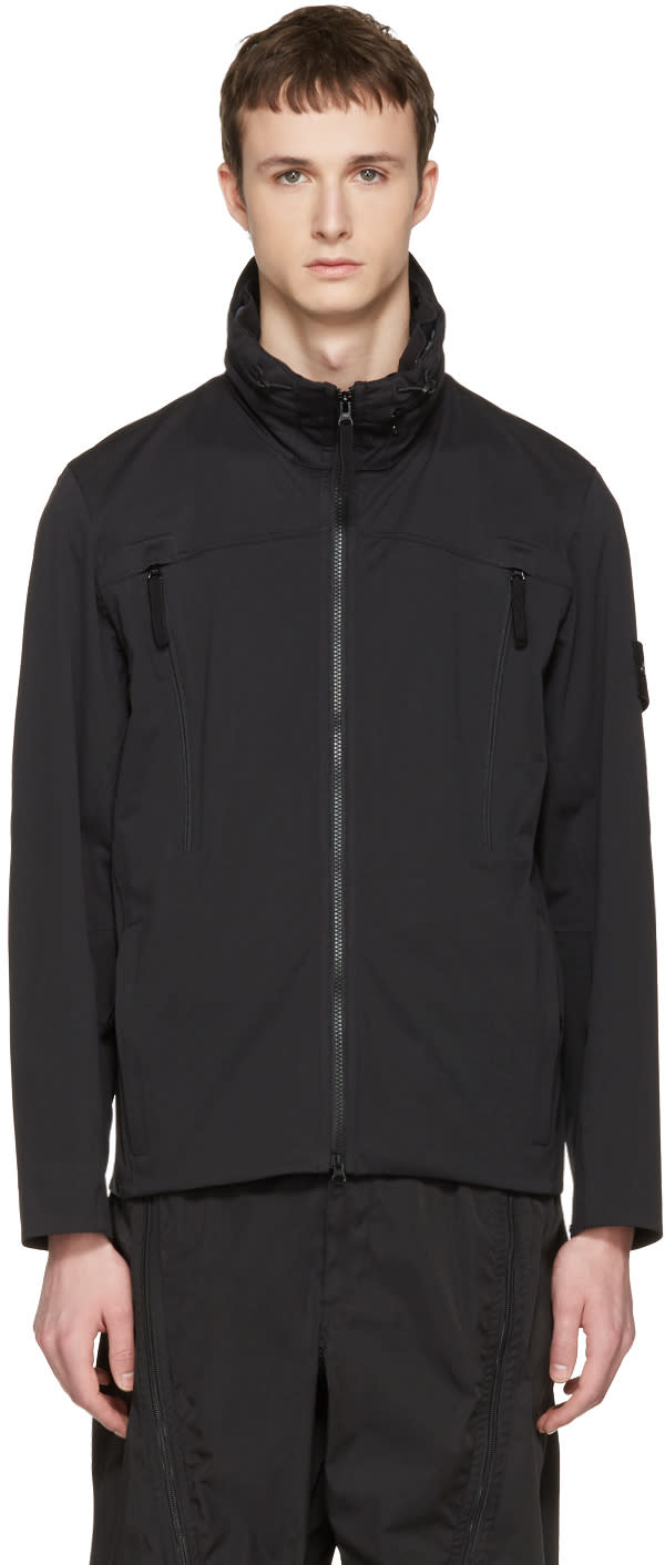 Stone Island Black Zip Pocket Jacket