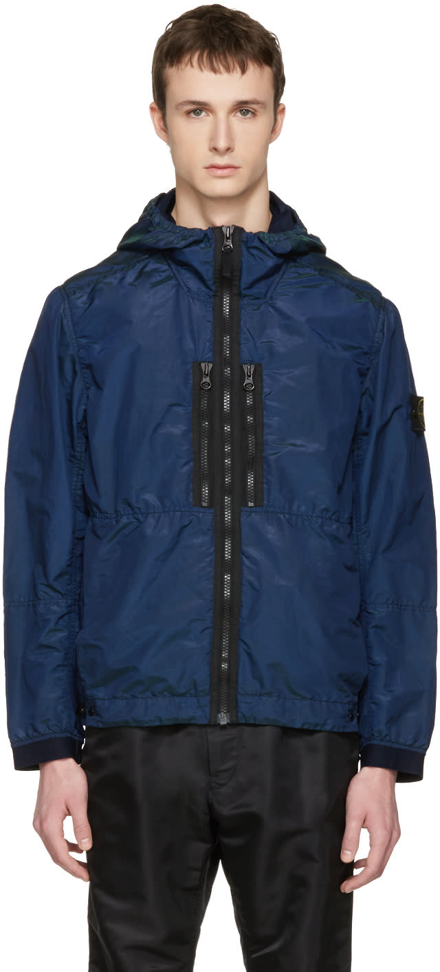Stone Island Indigo Iridescent Hooded Jacket
