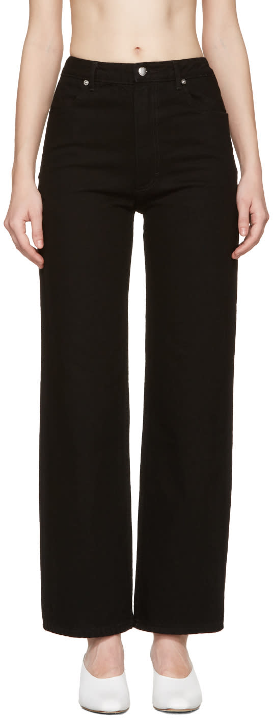 Image of Eckhaus Latta Black Straight Leg Jeans