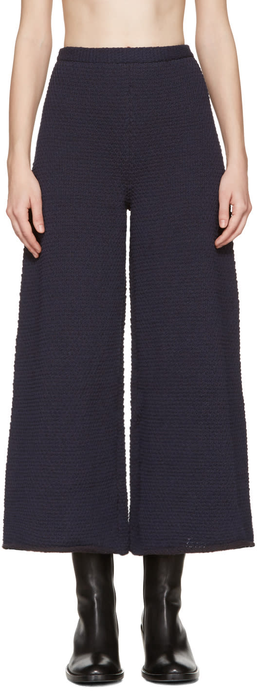 Eckhaus Latta Navy Knit Culottes