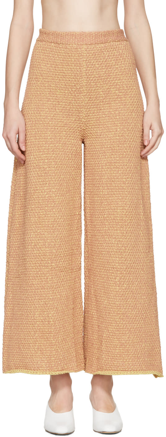 Eckhaus Latta Orange Knit Culottes