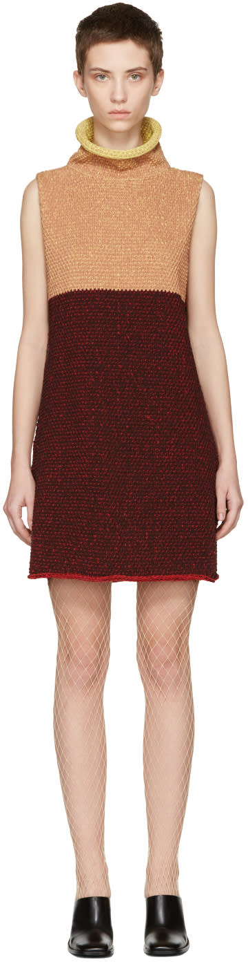 Eckhaus Latta Multicolor Knit Open Back Dress
