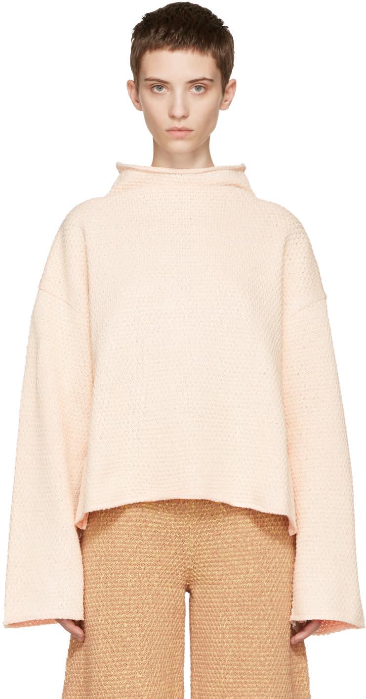 Eckhaus Latta Off-white Funnel Neck Sweater