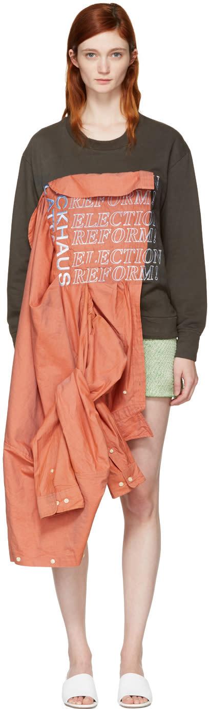 Eckhaus Latta Orange and Green Election Reform Edition Sweatshirt