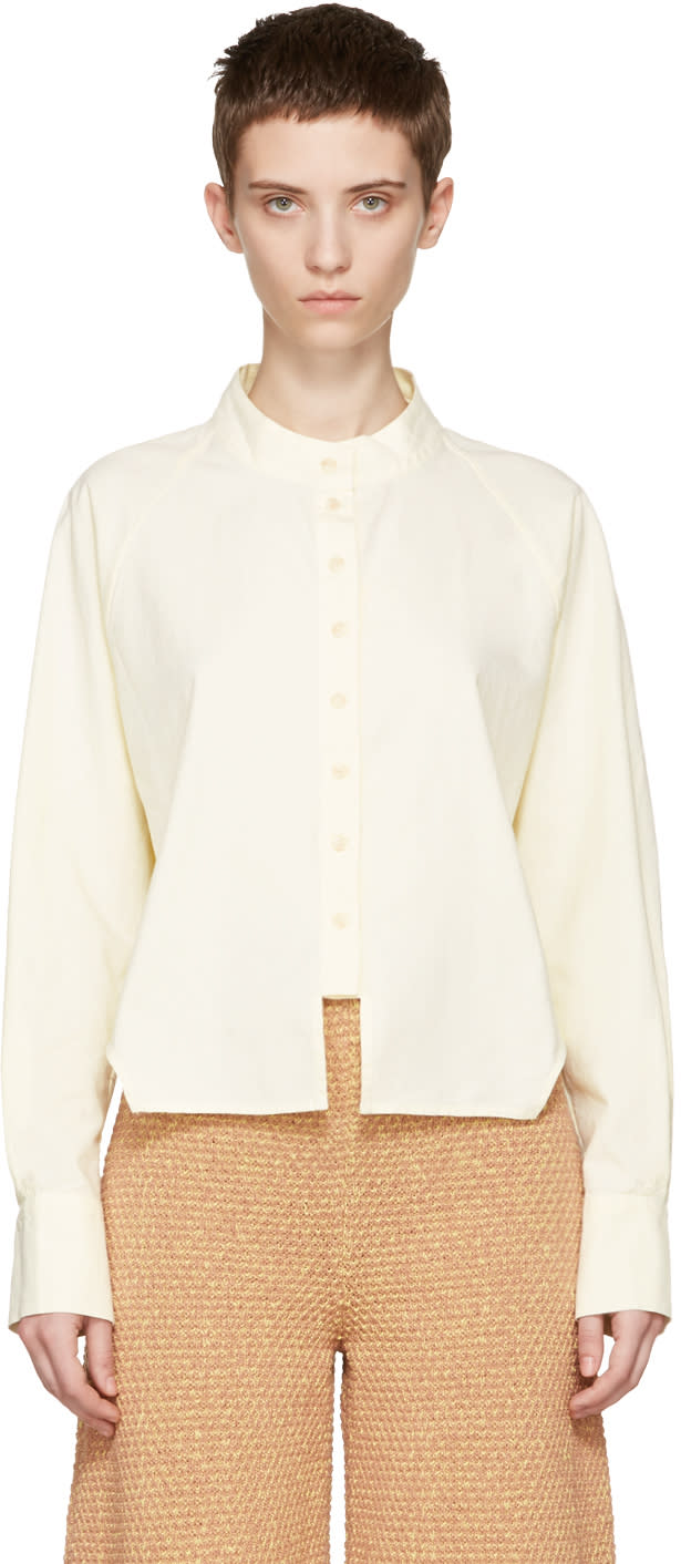Eckhaus Latta Yellow Cropped Shirt