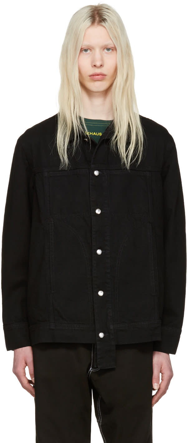 Eckhaus Latta Black Denim Jacket