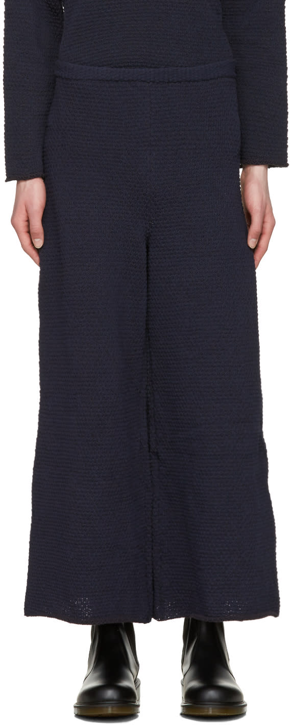 Eckhaus Latta Navy Knit Lounge Pants