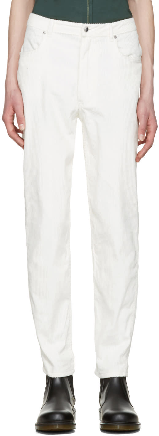 Eckhaus Latta Off-white Corduroy El Trousers
