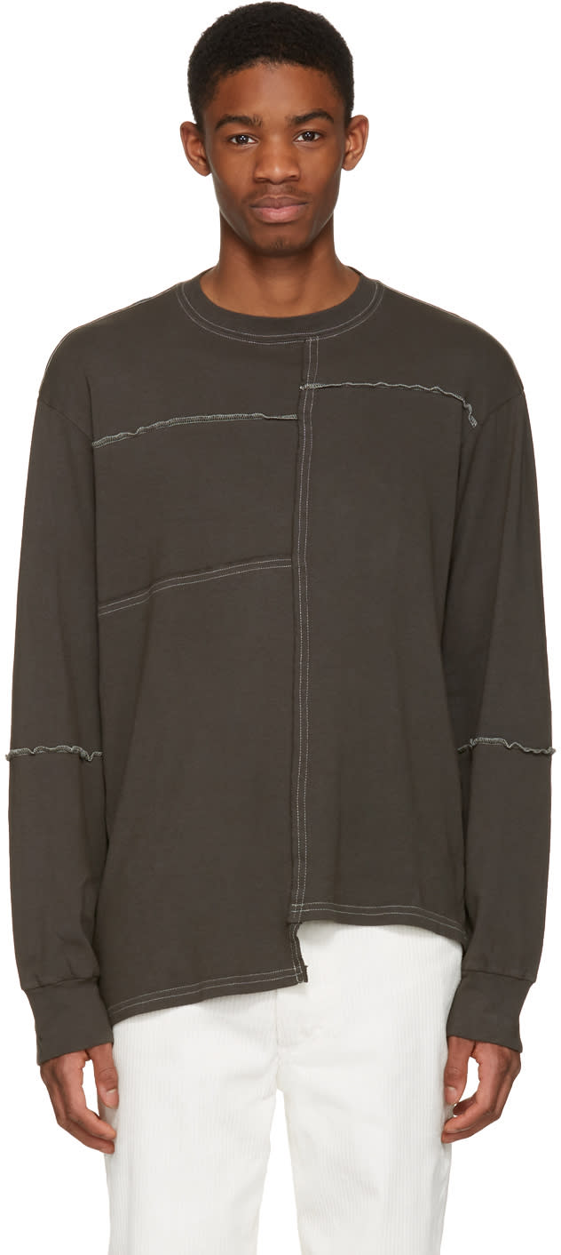 Eckhaus Latta Grey Patched Pullover