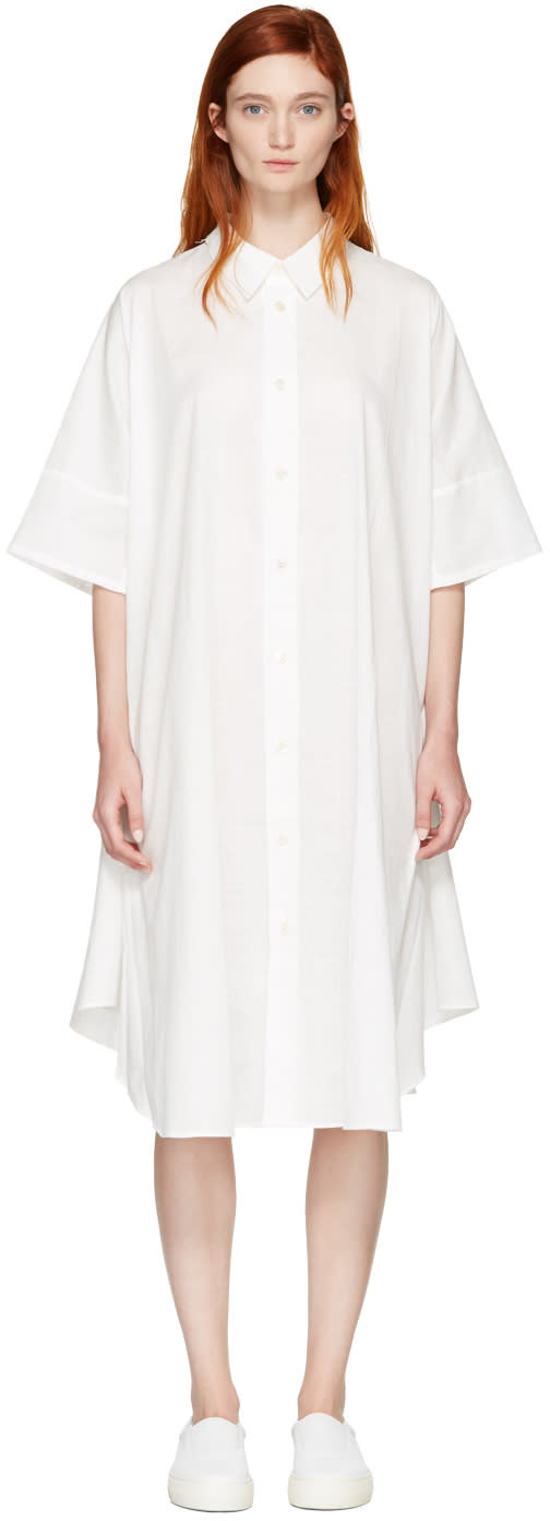 Nocturne 22 White Circle Shirt Dress