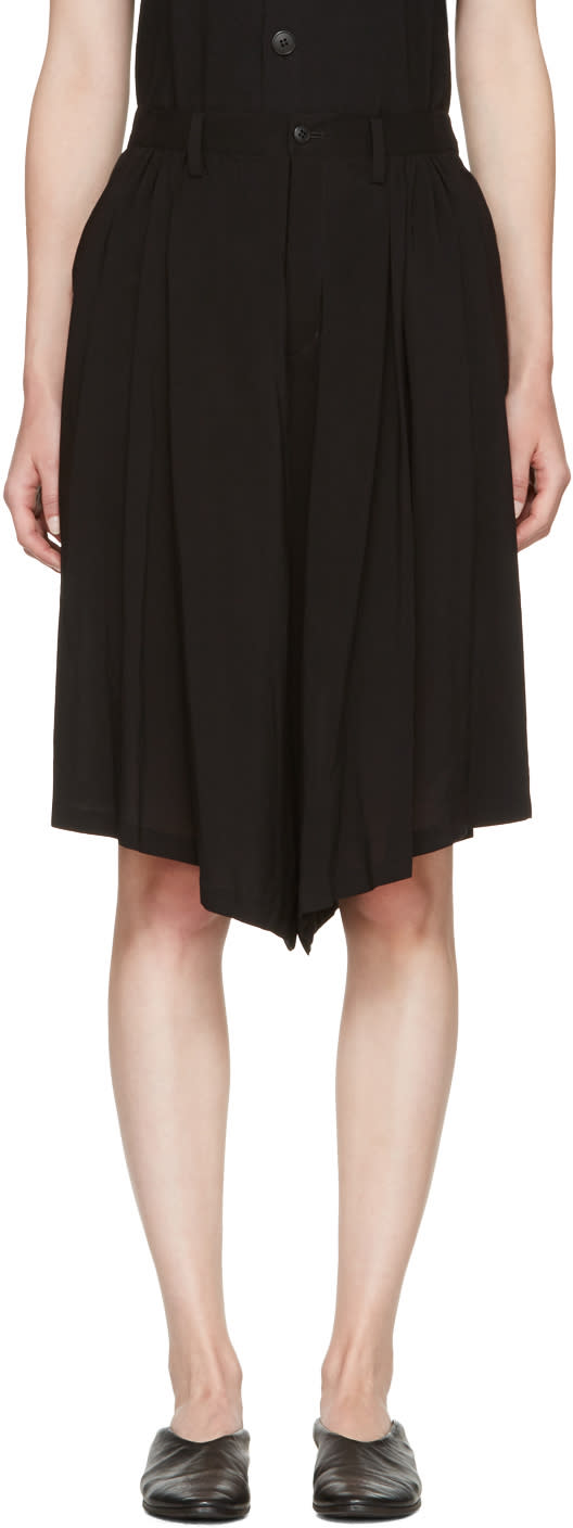 Nocturne 22 Black Gathered Culottes
