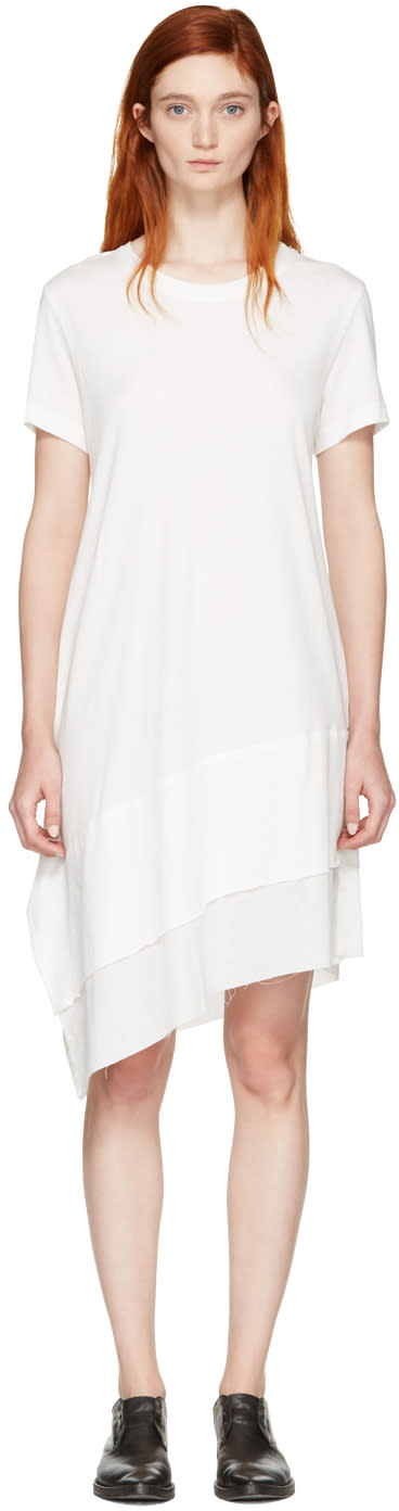 Nocturne 22 Off-white Asymmetric T-shirt Dress