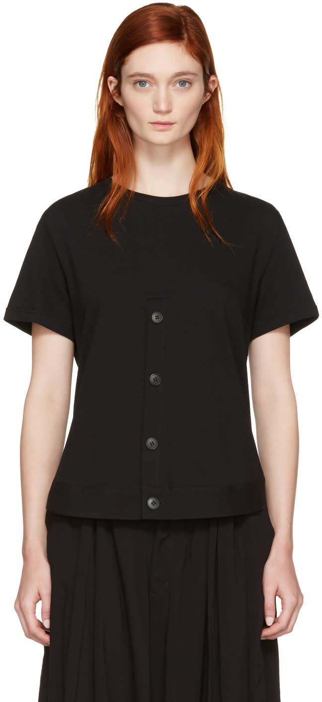 Nocturne 22 Black Henley Hem T-shirt