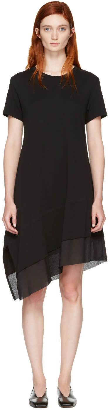 Nocturne 22 Black Asymmetric T-shirt Dress