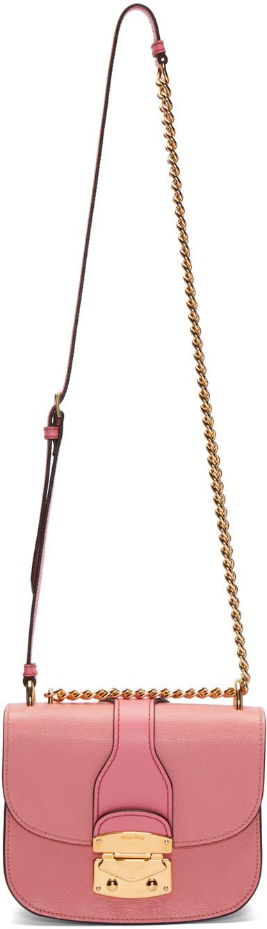 Miu Miu Pink Classic Lock and Chain Bag