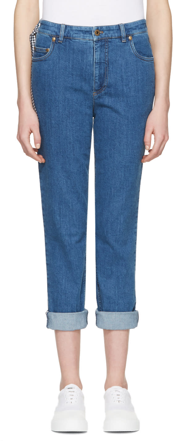 Miu Miu Blue Boyfriend Jeans
