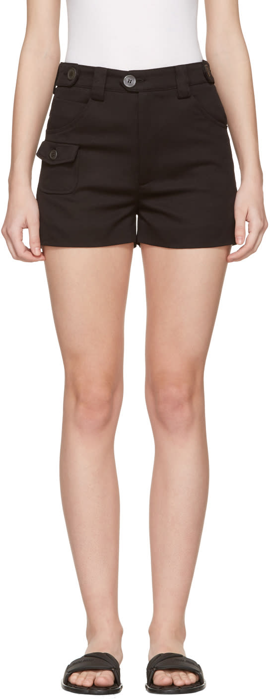 Image of Miu Miu Black Cotton Shorts