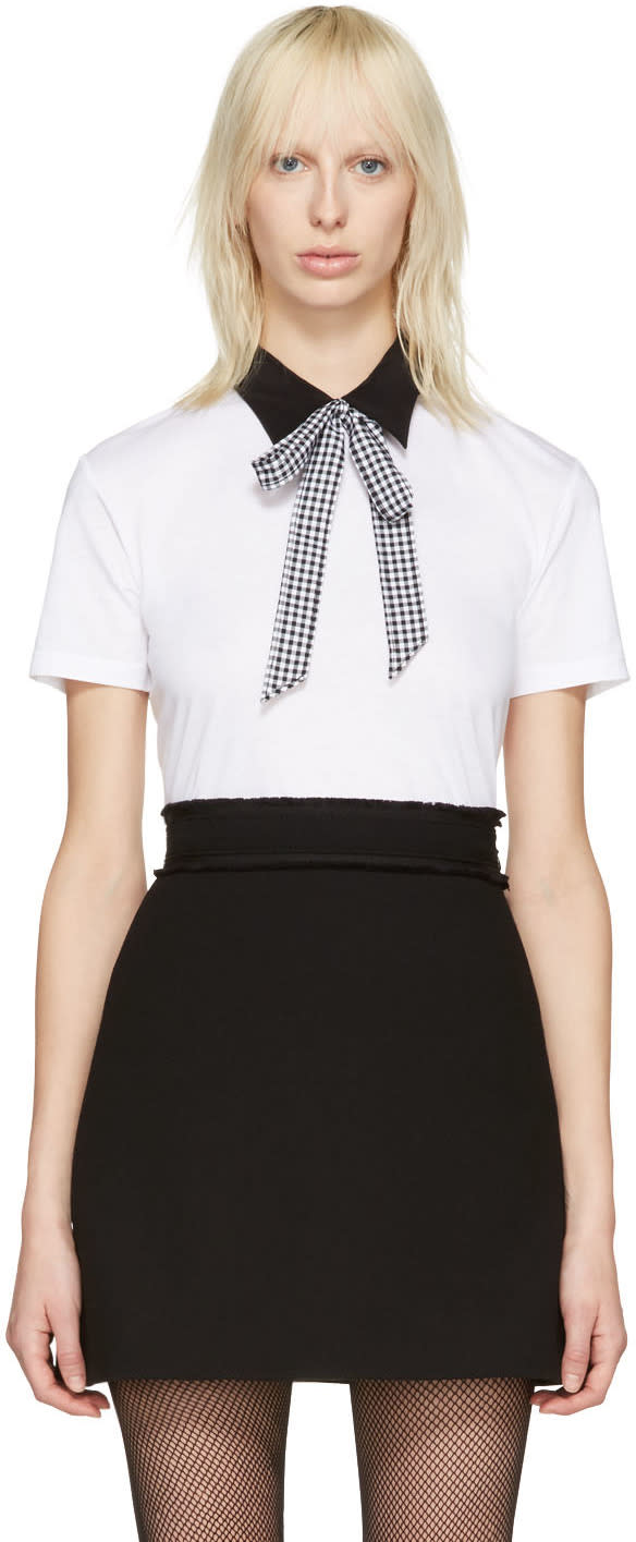 Miu Miu White Collared T-shirt