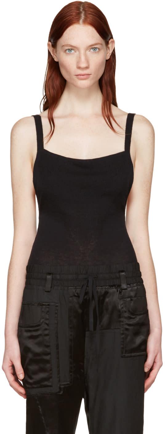 Wendelborn Black Open Back Bodysuit