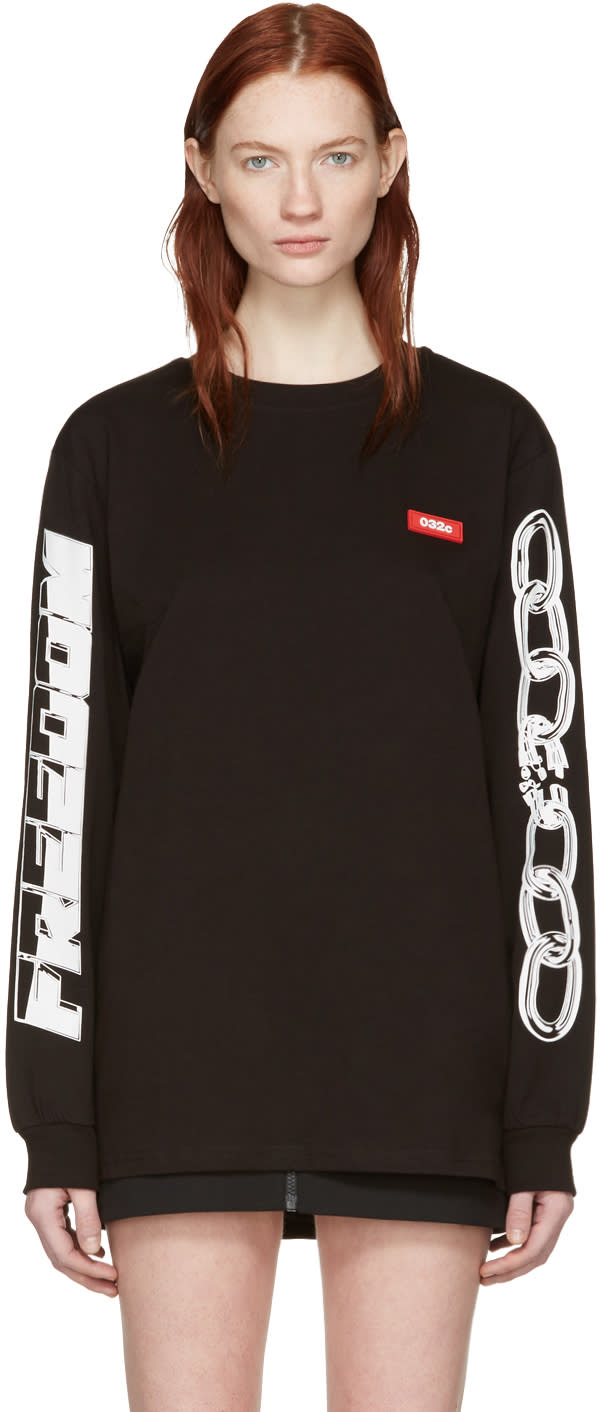 Image of 032c Black Chains Graphic T-shirt