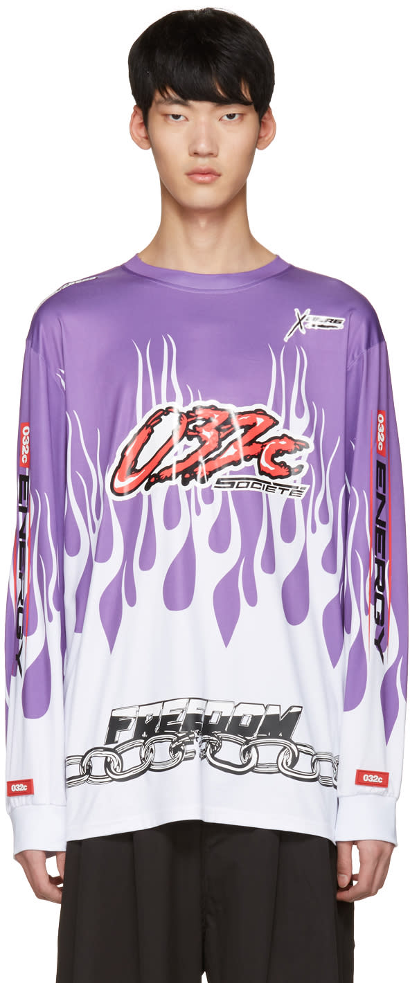 032c Purple Flames Pullover