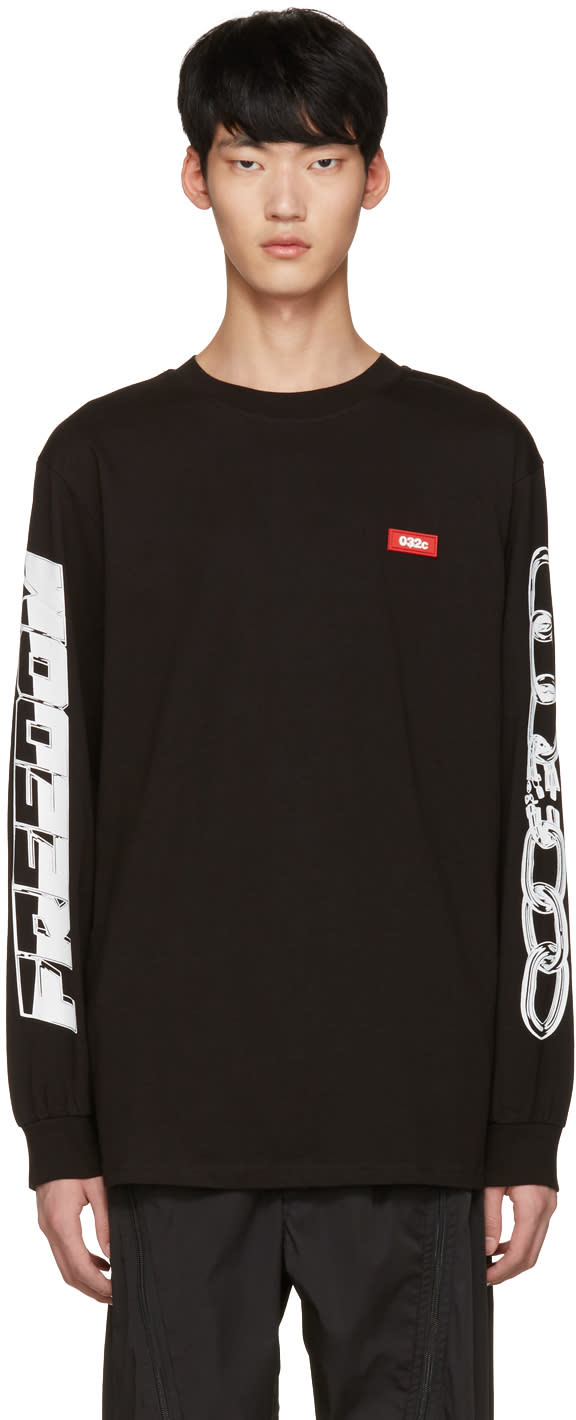 Image of 032c Black Chains T-shirt