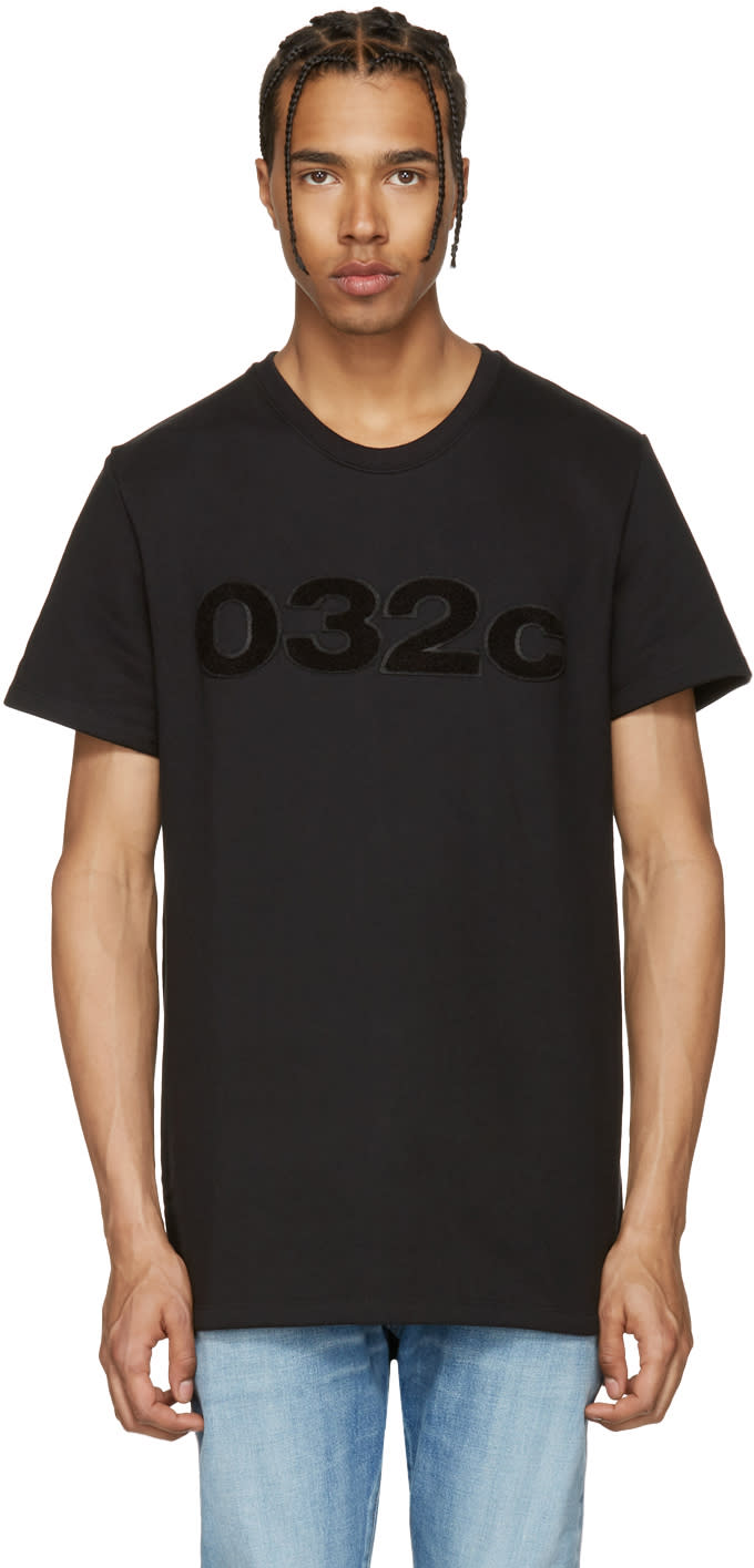 Image of 032c Black the Believer T-shirt