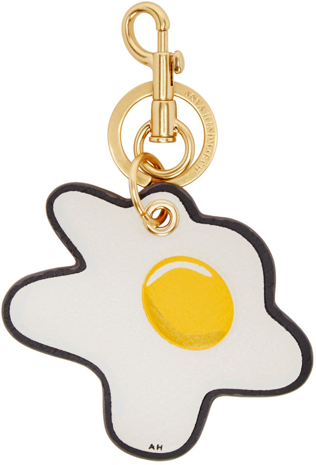 Anya Hindmarch Ivory Egg Keychain