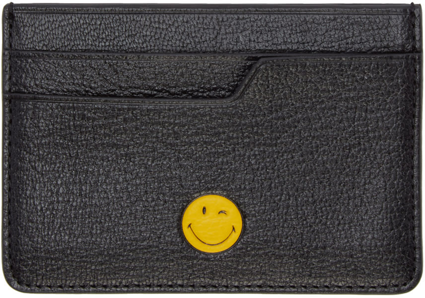 Anya Hindmarch Black Wink Card Holder