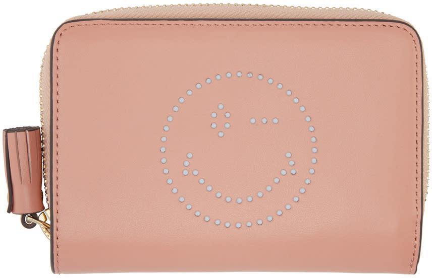 Anya Hindmarch Pink Compact Wink Wallet